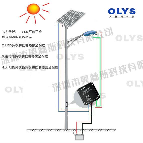 奥林斯科技:太阳能路灯控制器接线图教你如何接线